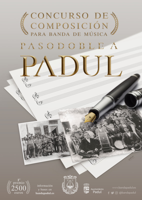 """CONCURSO DE COMPOSICIÓN """"PASODOBLE A PADUL"""""""