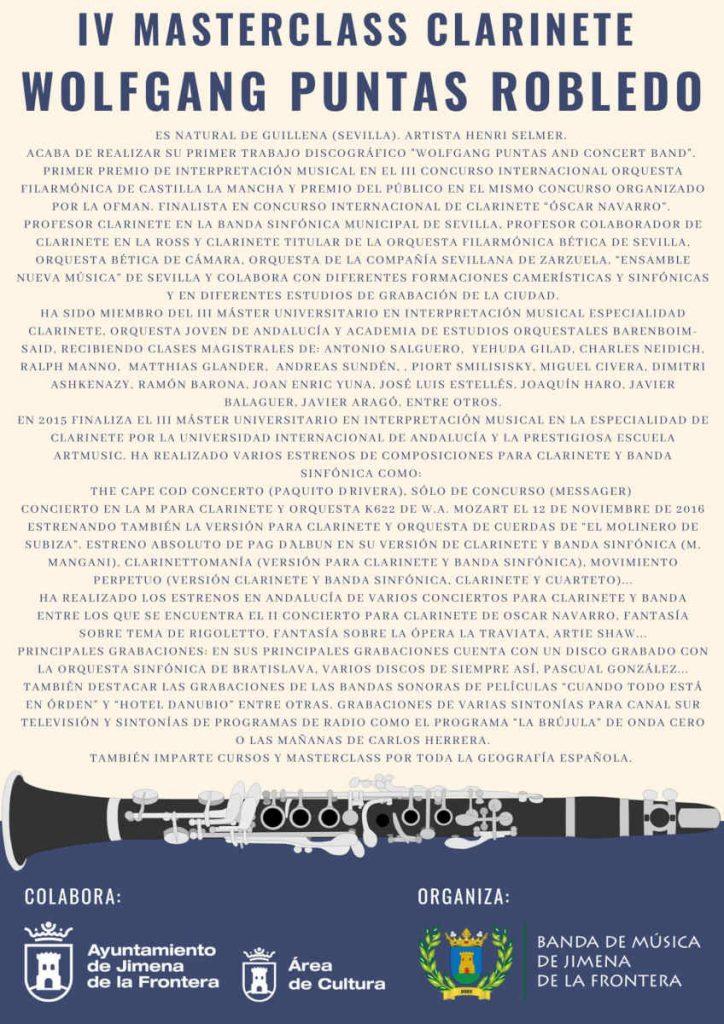 IV MasterClass de Clarinete 2